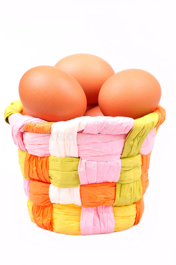 Download Eggs in a basket stock photo. Image of industry, farm - 26765340