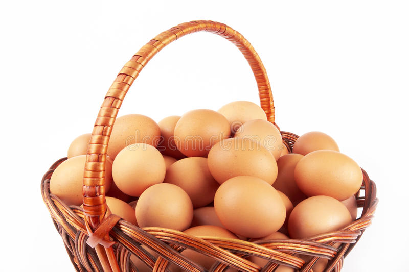 Download Eggs in a basket stock image. Image of chicken, circle - 28839263