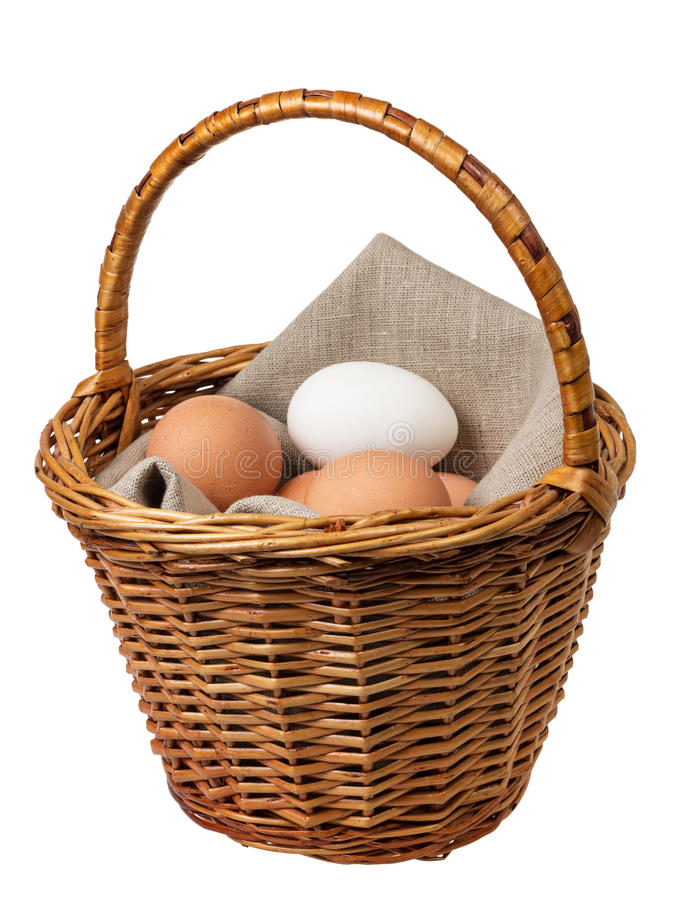 Download Eggs In A Basket Stock Photography - Image: 28975702