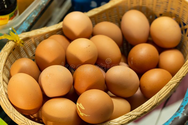 Eggs in the basket Plas dualistic. Eggs in the basket Plas dualistic , Thailand royalty free stock photography