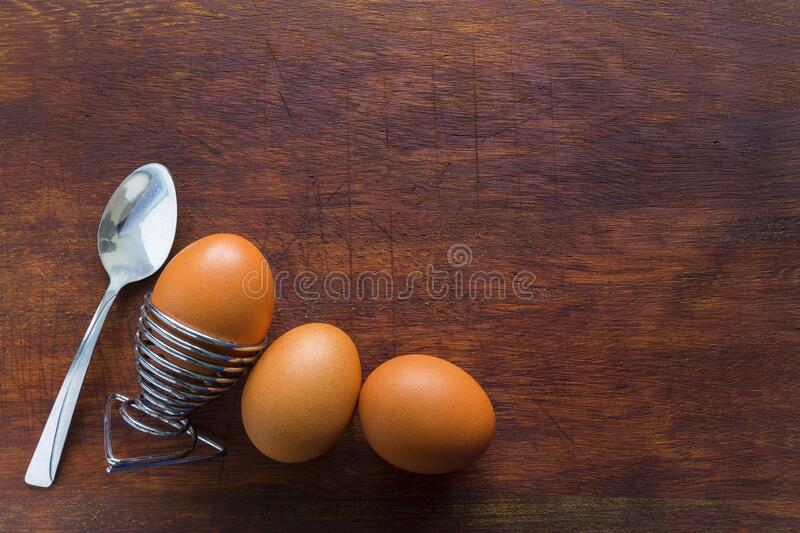 Eggs boiled on display royalty free stock image