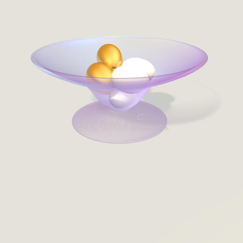 Eggs in a bowl royalty free illustration