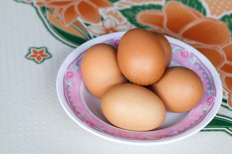 Eggs in a bowl royalty free stock image