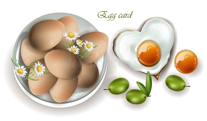 Eggs breakfast Vector realistic. Menu, page, template mock ups. Eggs breakfast Vector realistic. Menu, page, template mock up royalty free illustration