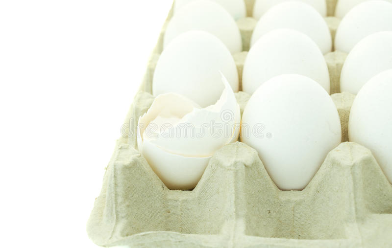 Download Eggs in cartoon stock photo. Image of white, concepts - 12219932