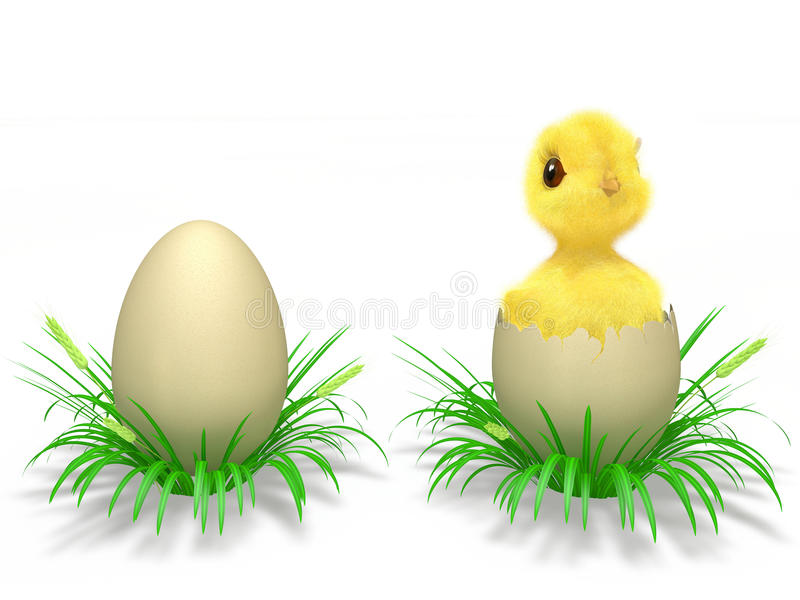 Download Eggs and chicken stock illustration. Image of spike, birth - 23477099