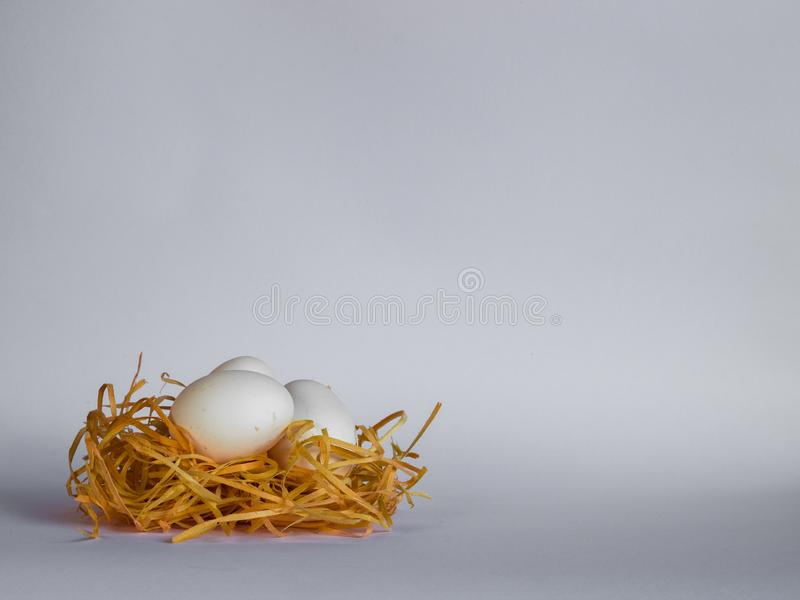 Background of the kitchen. Eggs that the chicken cried royalty free stock photos