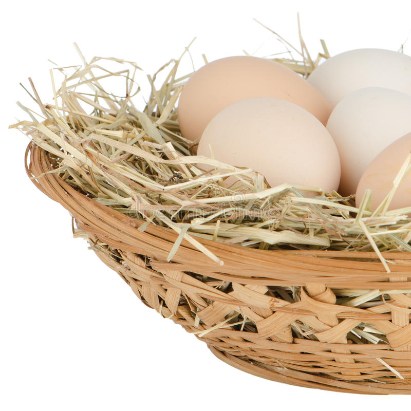 Eggs closeup stock photography