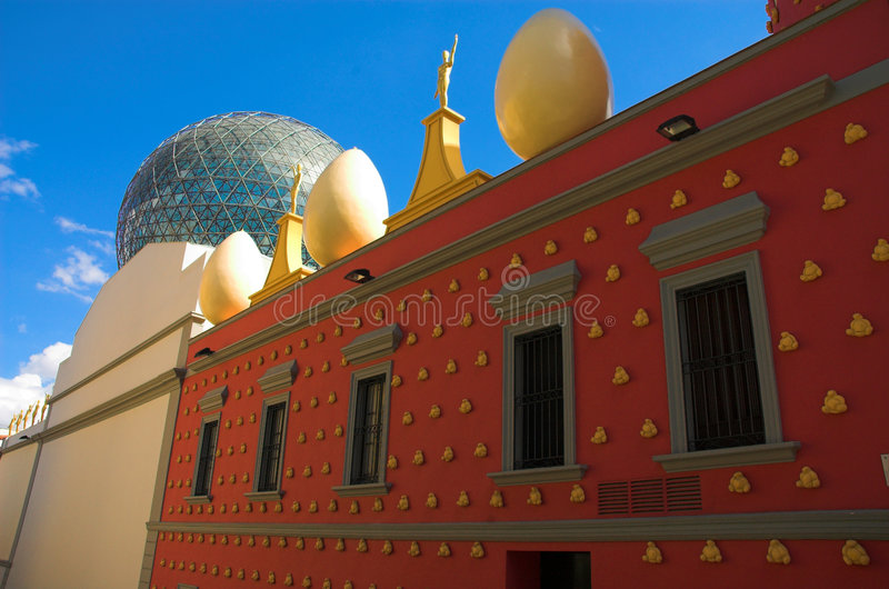 Eggs on the Dali's theatre royalty free stock photo