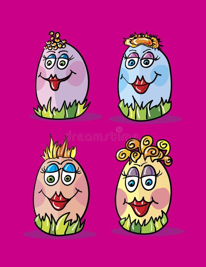 Eggs desenhos animados ilustração stock