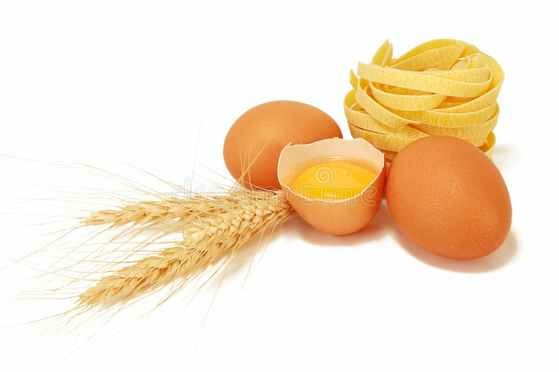 Download Eggs With Ears Of Wheat And Pasta Stock Photo - Image: 22417760