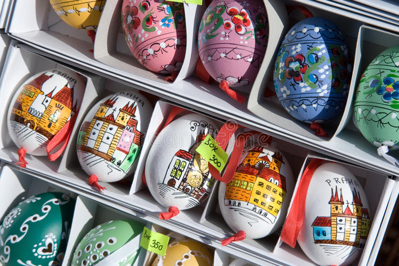 Eggs, Easter market, Prague, Czech republic stock image