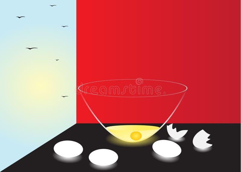 Download Eggs. stock vector. Image of fried, glass, indoor, life - 33390049