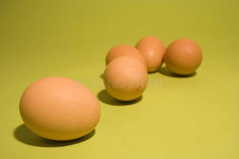 Eggs on fresh green background. Brown eggs on fresh green background royalty free stock image