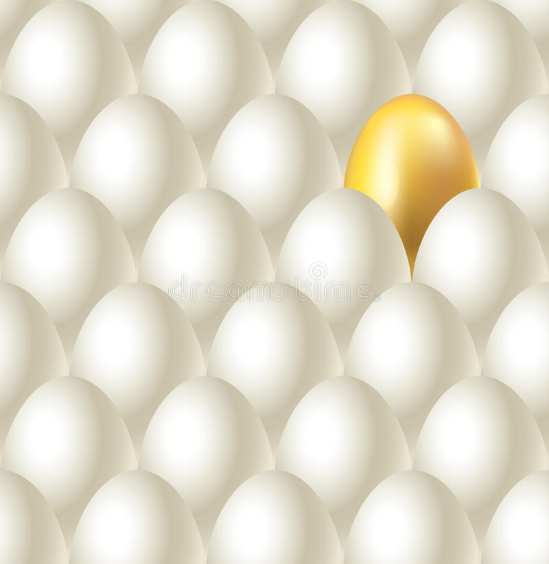 Download Eggs And Golden Egg Seamless  Background Stock Vector - Illustration of design, seamless: 34368202