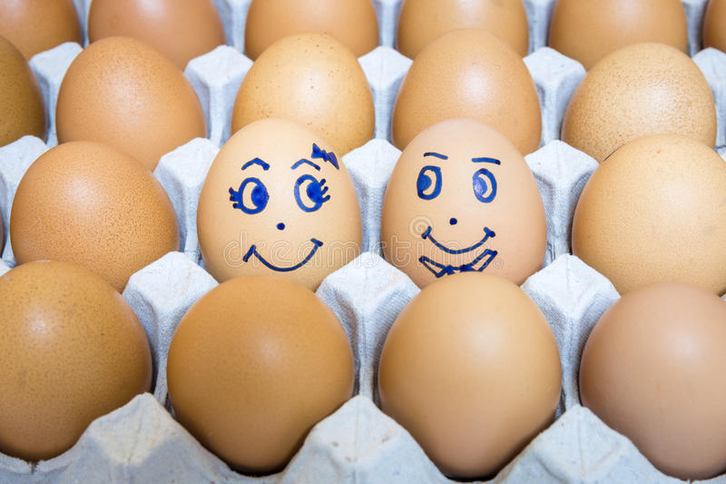Eggs is happiness stock photography