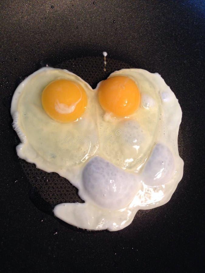 Eggs heart stock photo