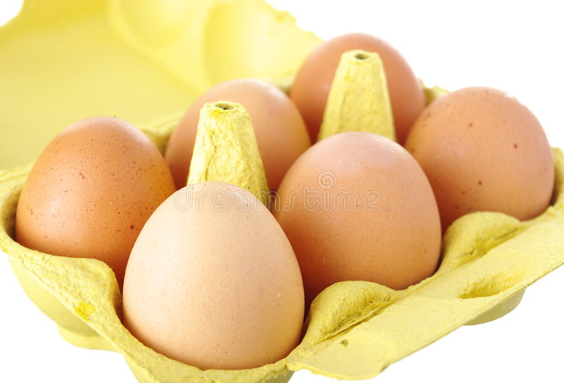 Eggs Isolated On White Royalty Free Stock Photography