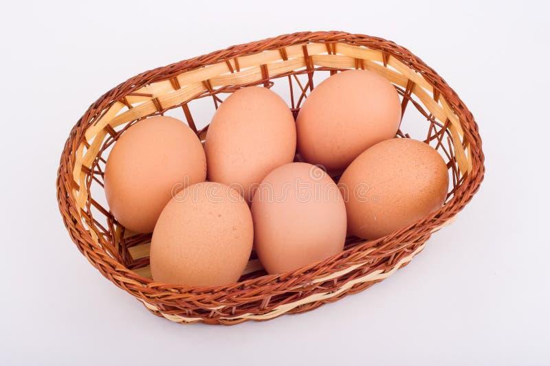 Eggs le panier photographie stock