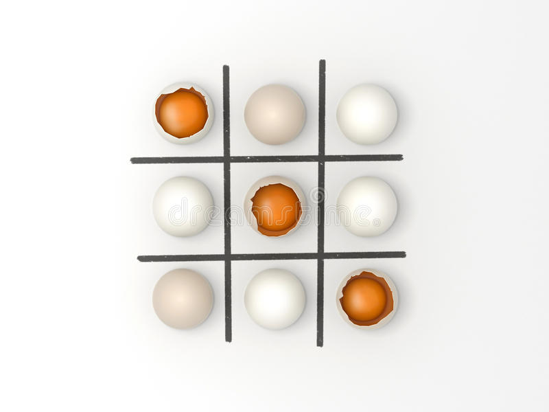 Eggs Noughts and Crosses - Easter game stock photos