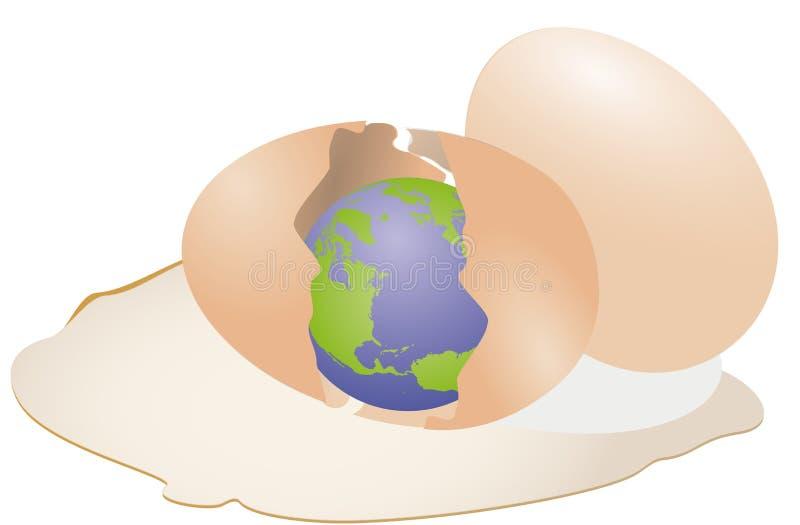 Shattered Earth Cut In Half Cartoon Vector Clipart - FriendlyStock