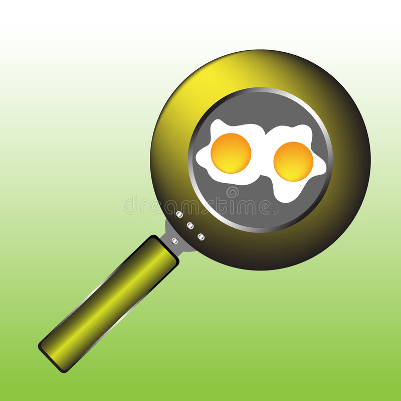 Download Eggs in a pan stock vector. Image of cuisine, cooked, eating - 7190993