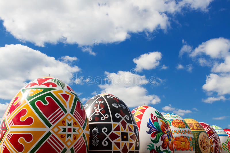 Download Eggs on the sky background stock image. Image of eggs - 26589897
