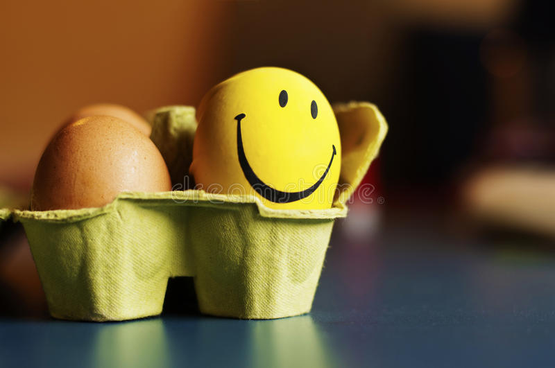 Eggs and smiley royalty free stock photography