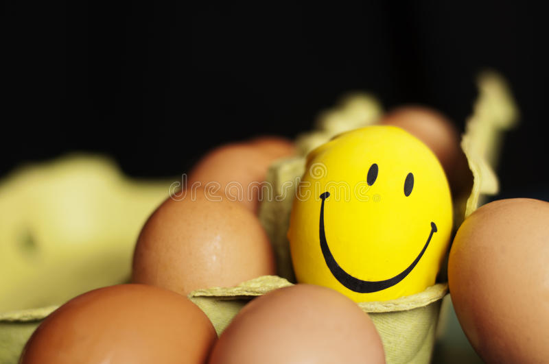 Eggs and smiley royalty free stock image