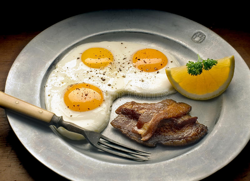 Eggs Speck stockfotos