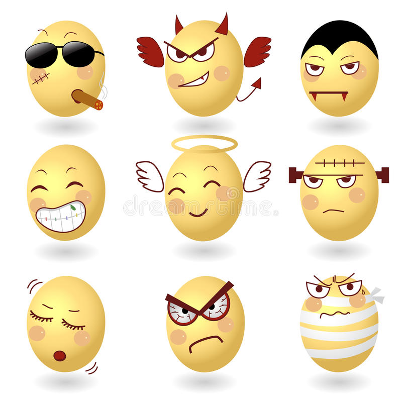 Download Eggs Vector Emotions Set2 stock vector. Image of choleric - 28853304