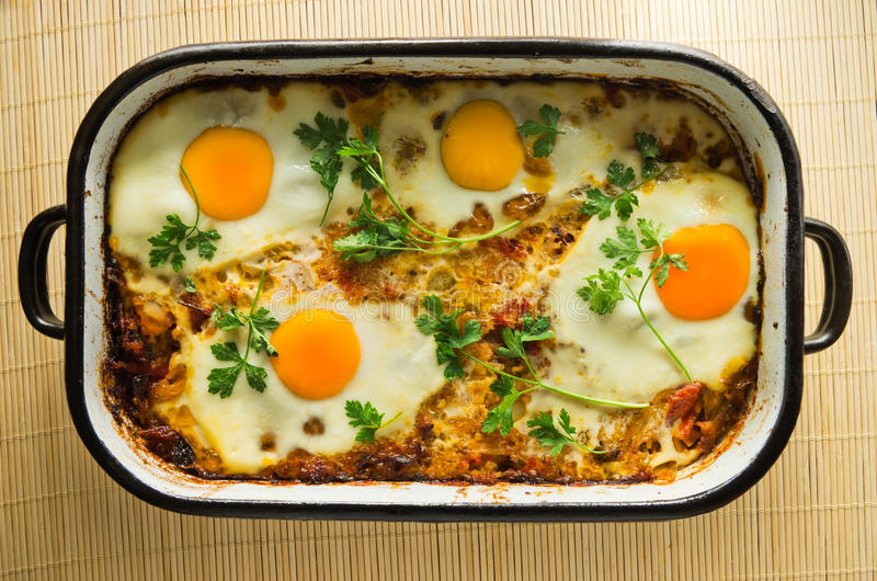 Eggs And Vegetables Cooked Royalty Free Stock Images