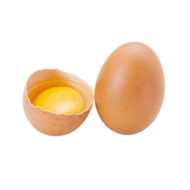 Download Eggs on white background stock photo. Image of background - 25998694