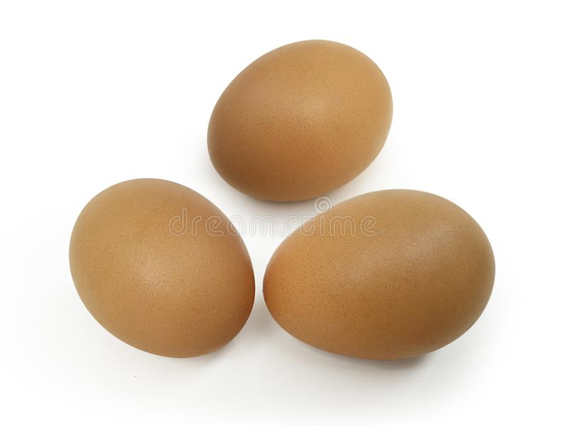 Eggs on white background royalty free stock photography