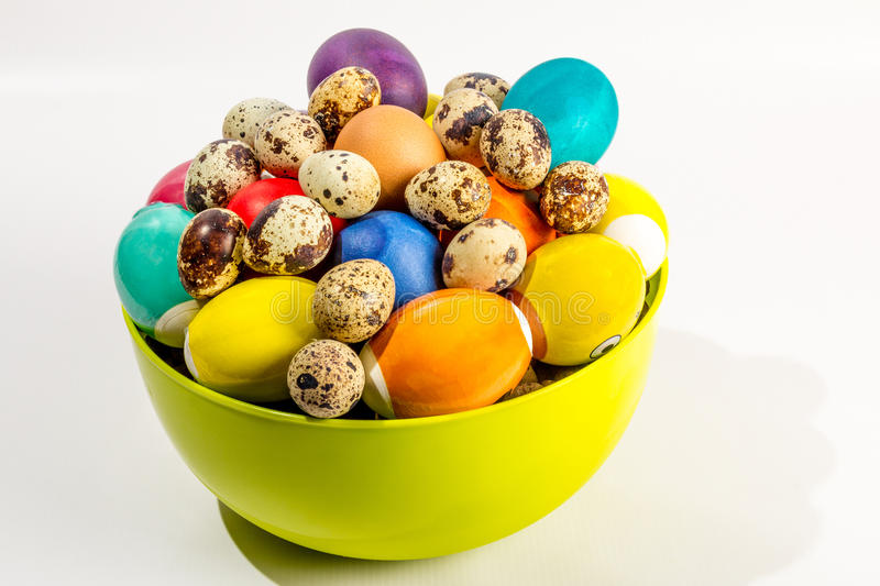 Eggs on white. Colored Easter eggs isolated on white background royalty free stock image