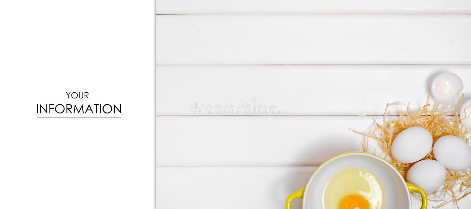Eggs yolk in a plate pattern royalty free stock photography