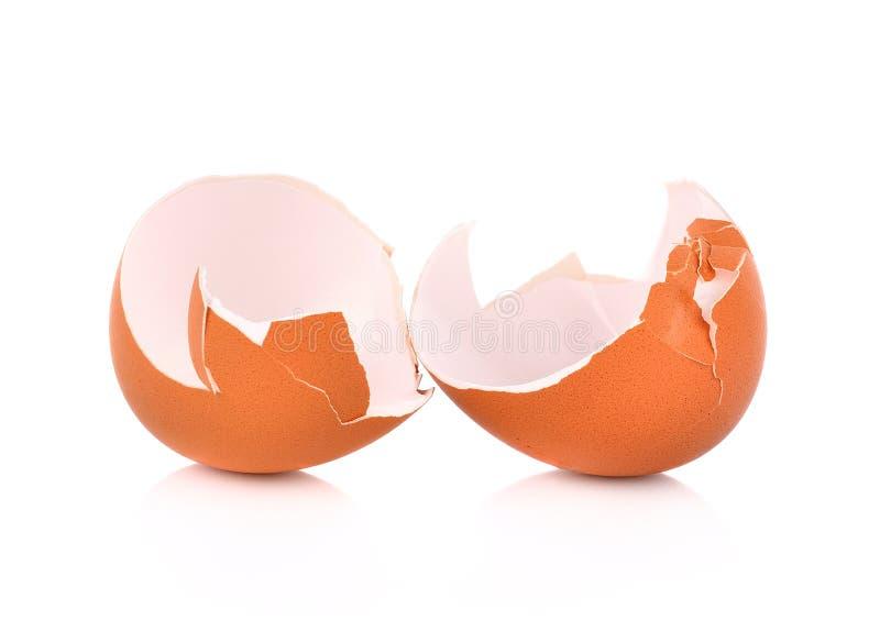 Eggshell που απομονώνεται στην άσπρη ανασκόπηση στοκ εικόνα με δικαίωμα ελεύθερης χρήσης