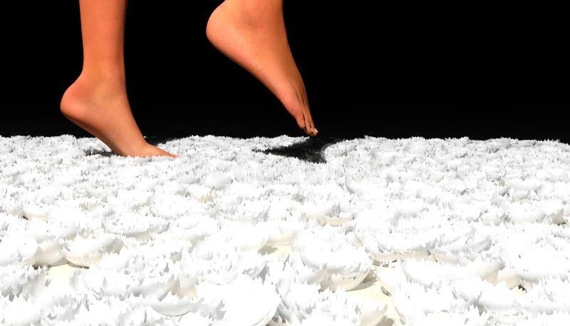 eggshells chodzić ilustracji
