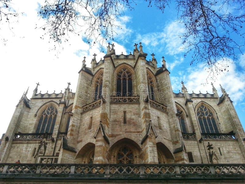 Egils Paroisse Katholieke Heilige Nizier, de oude stad van Lyon, Frankrijk royalty-vrije stock foto's