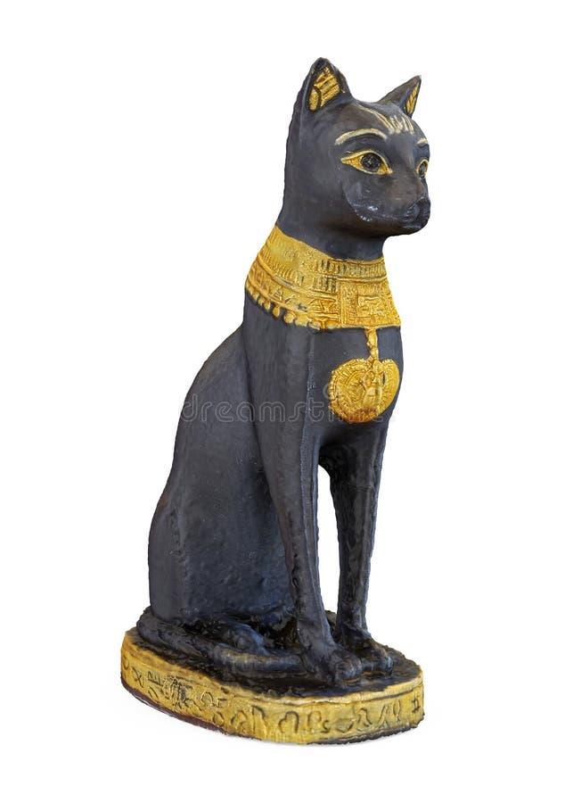 Egipcio Cat Statue Isolated stock de ilustración