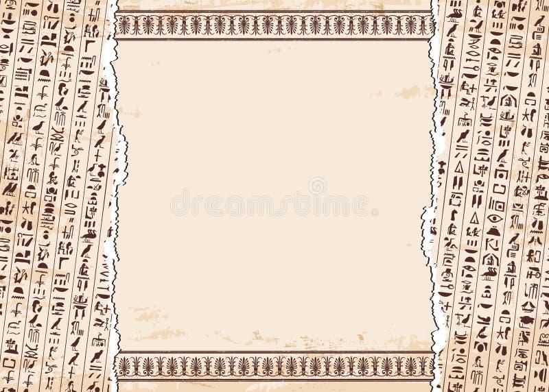 Egipcjanów hieroglify i ornamenty ilustracji