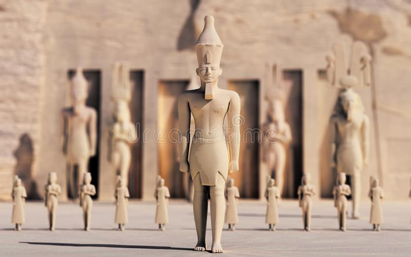 egipcjanie jak spacer royalty ilustracja