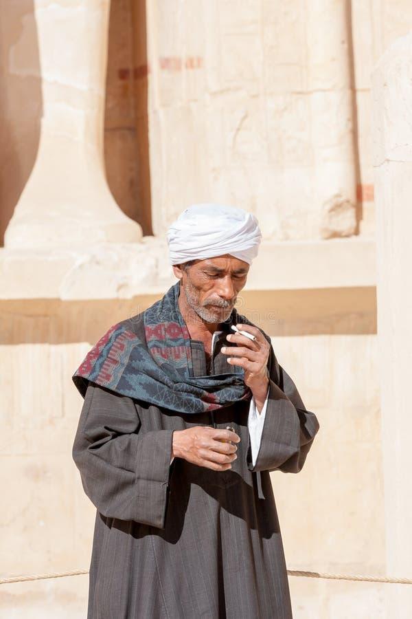 Egipcjanin blisko Abu Simbel świątyni, Egipt zdjęcia stock