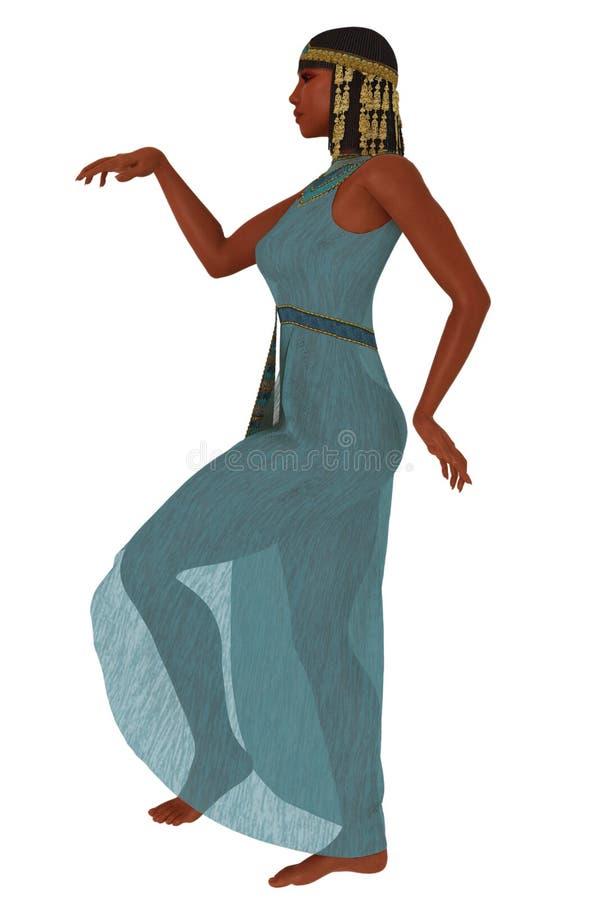 egipcjanin jak spacer ilustracji