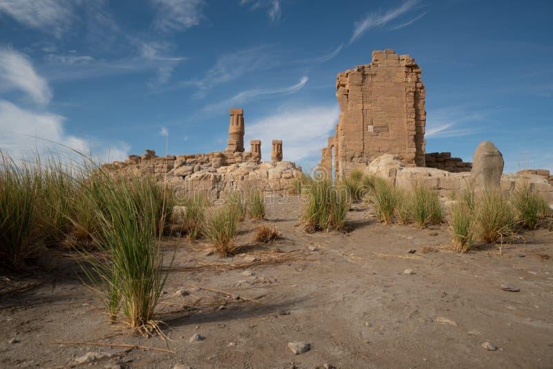 Egipcjanina Soleb świątynia w Nubijskim terenie Sudan zdjęcia royalty free