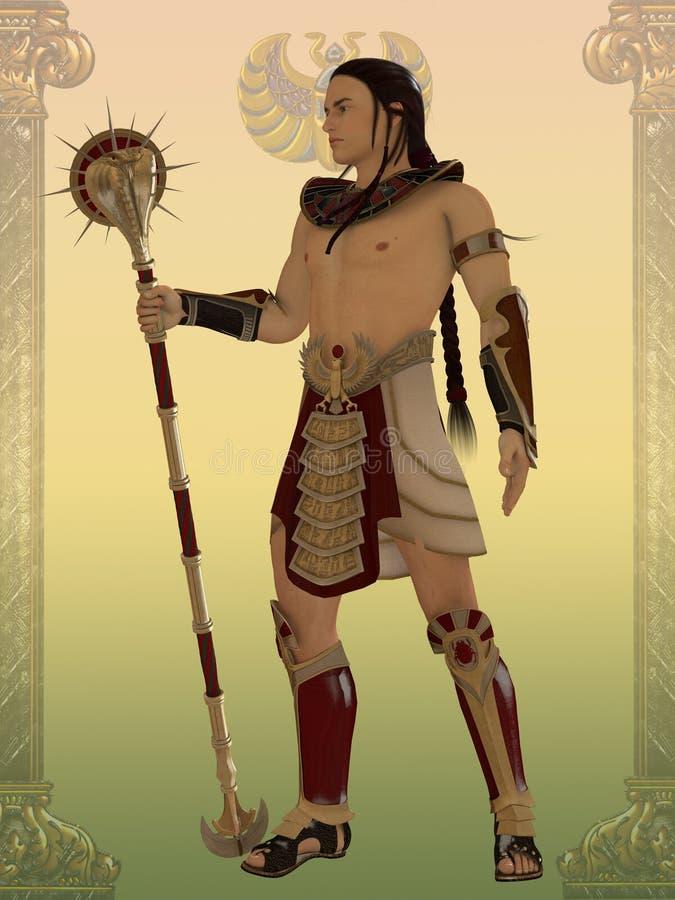 Egipcjanina strażnik ilustracji