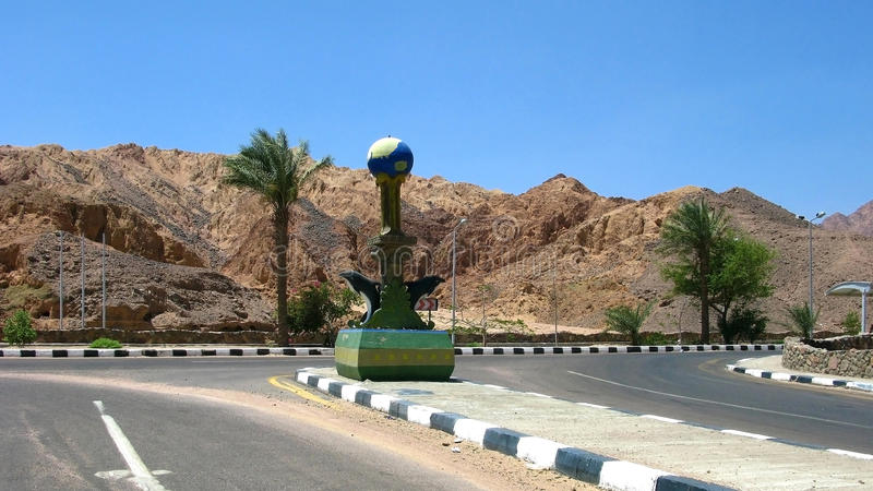 Egipet. Sinai. Skulptura à l'carrefours photographie stock