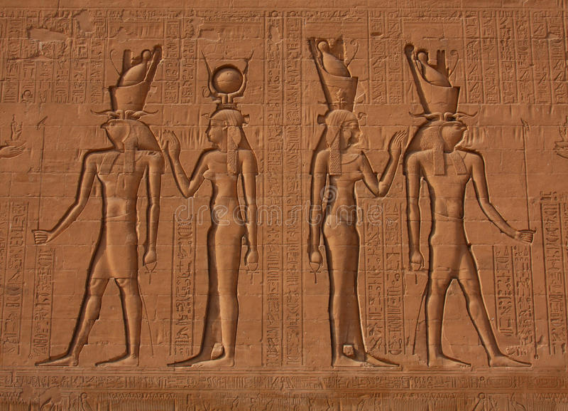 Egipscy Hieroglyphics zdjęcie royalty free