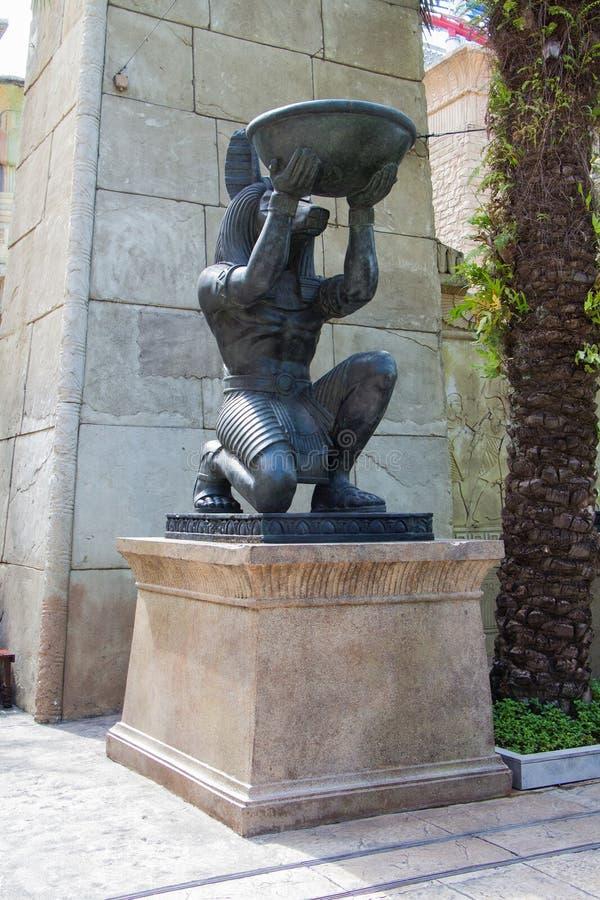 Egipska antyczna sztuki Anubis rzeźba zdjęcie stock