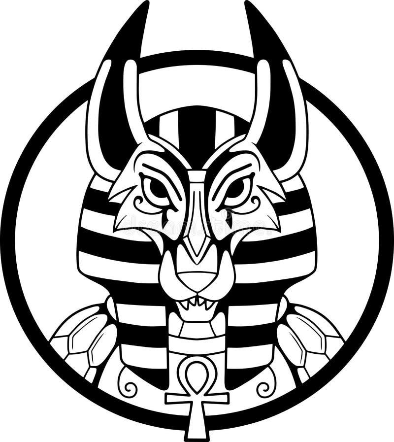 Egipska bóg anubis wektoru ilustracja ilustracja wektor